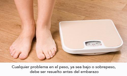 Peso Ideal antes del Embarazo